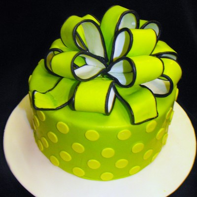 Lime Green With Polka Dots