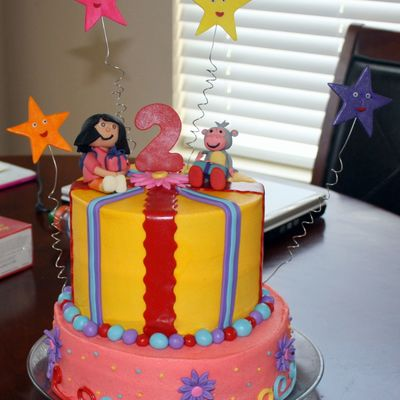 Dora And Boots B-Day Cake