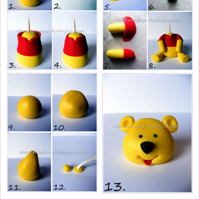 Winnie Pooh Tutorial on Cake Central