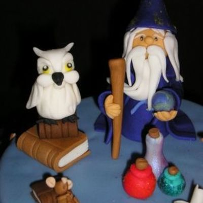 The Owl And The Wizard Upright!!!