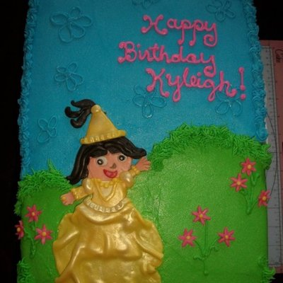 Princess Dora Birthday Cake