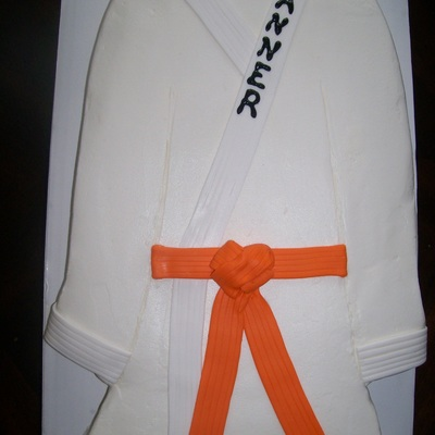 Karate Uniform Cake