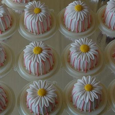 Pinky Strip Daisy Mini Cake