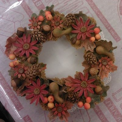 Thanksgiving Cupcake Wreath