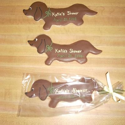 Dachshund Wedding Shower Cookies
