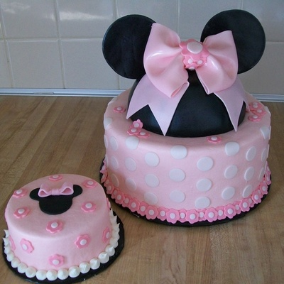 "Minnie And ""smash"" Cake For First Birthday"