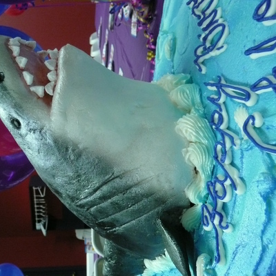Great White Shark Cake