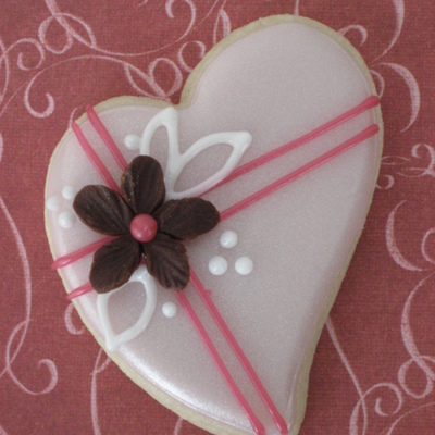 Luster Heart With Modeling Chocolate Flower