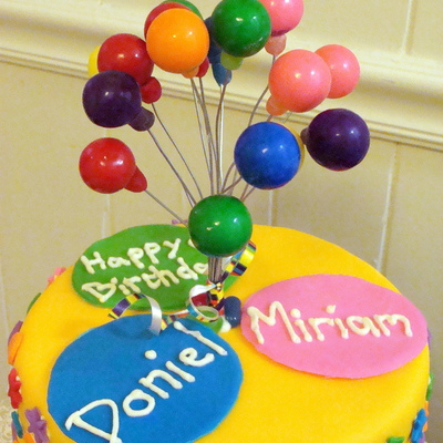 Colorful Balloon Cake