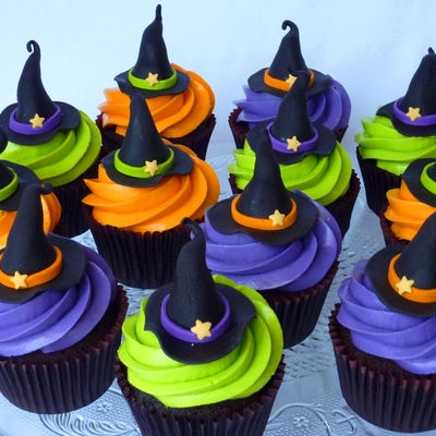 Witch Hat Cupcakes on Cake Central
