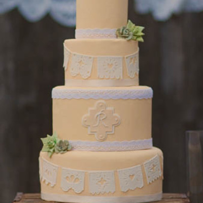 Papel Picado Wedding Cake