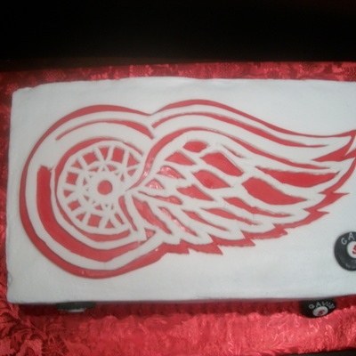 Red Wings Birthday Cake