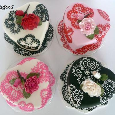 Colorful ♥ Cakes For Valentines...