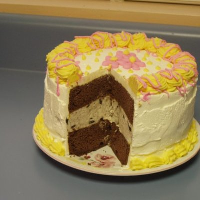 Ice Cream Cake With Flowers on Cake Central
