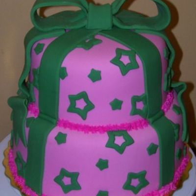 Pink And Green With Stars on Cake Central