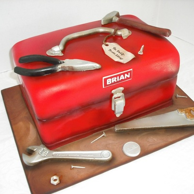 Tool Box Cake And Tools