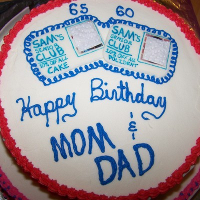 Mom And Dads Senior Citizen Cake
