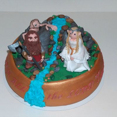 Lord Of The Ring's Cake.