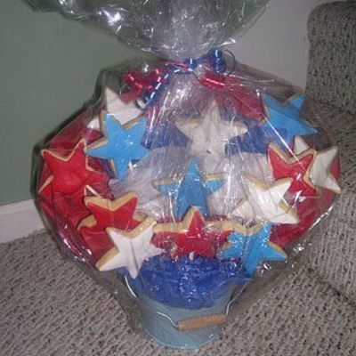 Star Cookie Bouquet