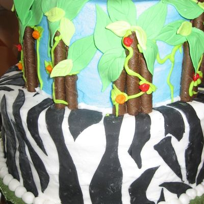 Back Of Jungle Birthday Cake