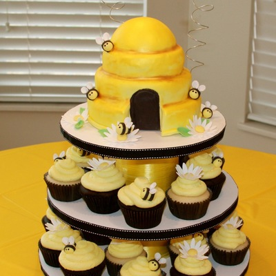 Bumble Bee Cupcake Tower