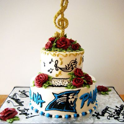 Carolina Panthers/musical Cakes Combined