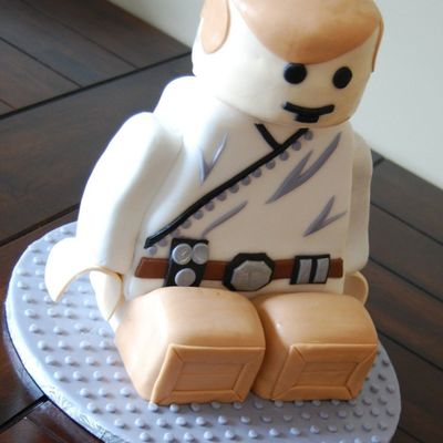 Luke Skywalker Lego Man Cake