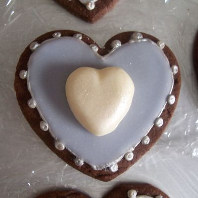 Lavender Heart Cookie