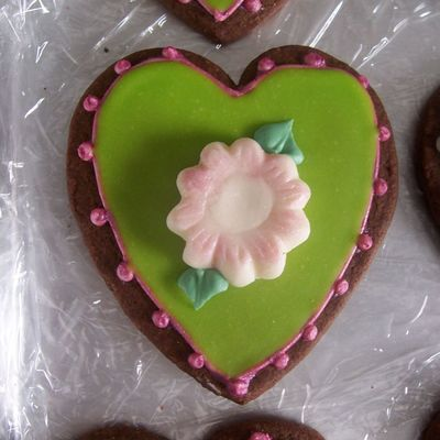 Green Heart Cookie