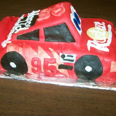 Fondant Red Race Car For 6 Year Old Birthday
