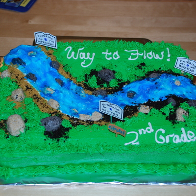 The River Runs - Charles River Cake