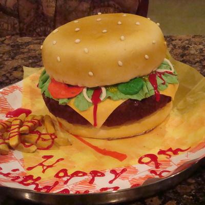 Торт из гамбургеров своими руками 4
