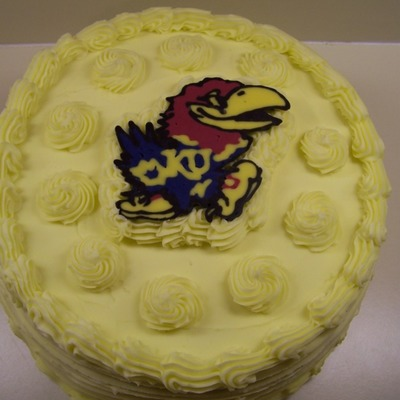 Jayhawk Birthday Cake