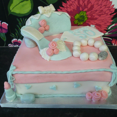 Shoe And Bag Cake
