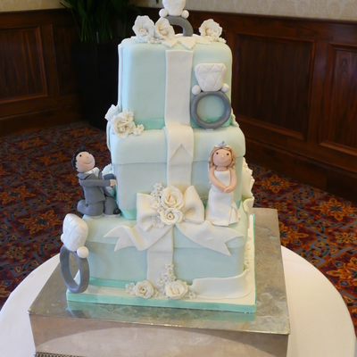 Tiffany Boxes And Diamond Rings Cake