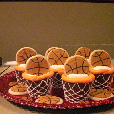 Basketball Cupcakes For My Son's End Of Yr Party