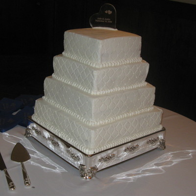 Quilted Square Wedding Cake