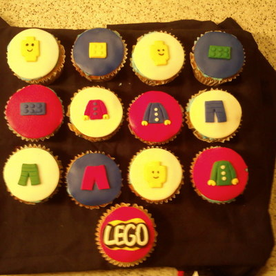Lego Cupcakes For My Son's Birthday