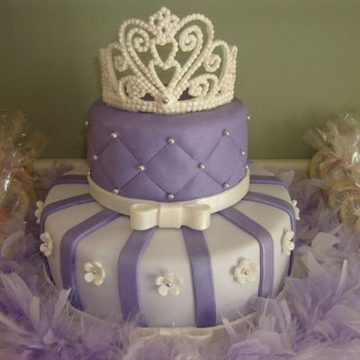 Purple Tiara Cake