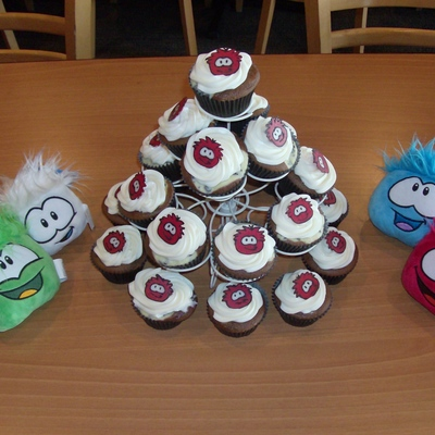 Puffle Cupcakes