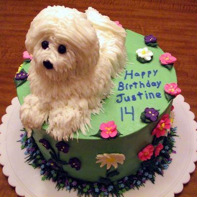 Puppy Cake Decorating Photos
