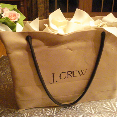 J Crew Shopping Bag Cake