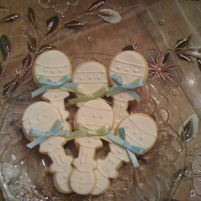 Baby Rattle Sugar Cookies