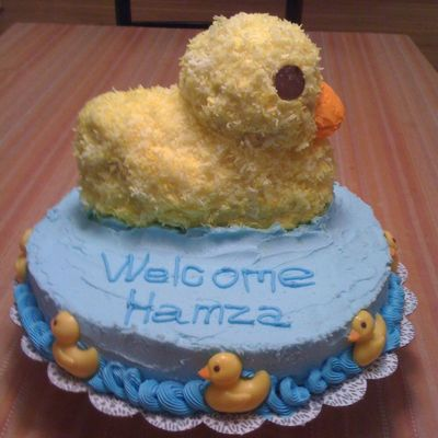 Welcome Baby Duck In Pond Cake