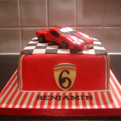 Super Ferrari Birthday Cake Cakecentral Com Funny Birthday Cards Online Ioscodamsfinfo