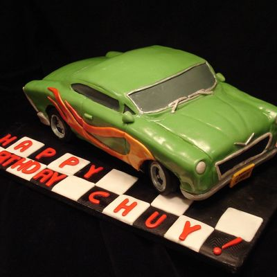 Hot Wheels Car Cake