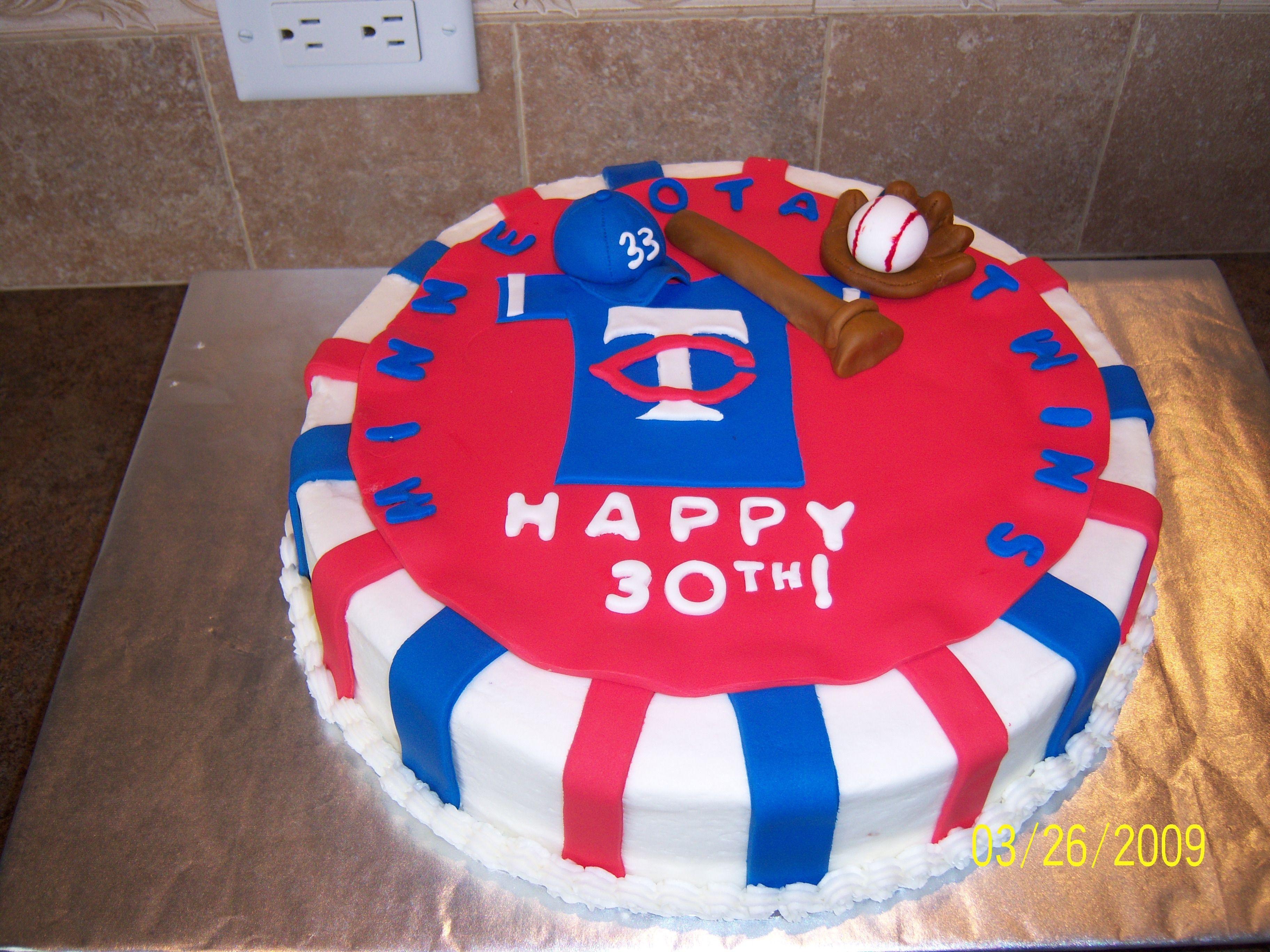 Cool Mn Twins Birthday Cake Cakecentral Com Funny Birthday Cards Online Chimdamsfinfo