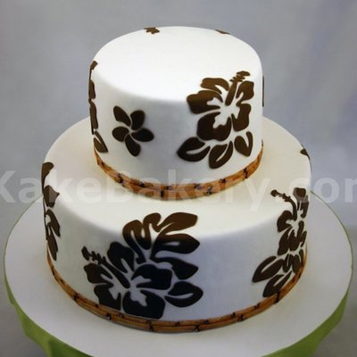 Hibiscus Tier Wedding Cake