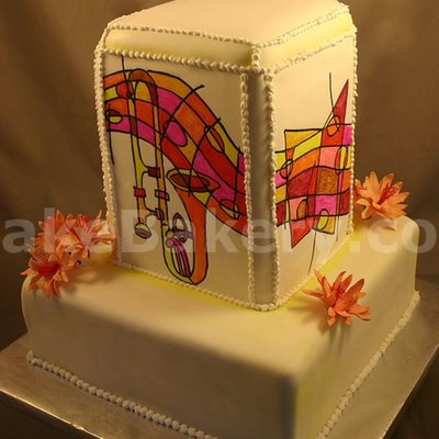 Hand Painted Music Cake