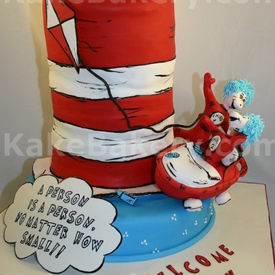Dr Seuss Thing One And Thing 2 Cake